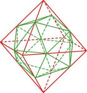 Додекаэдр, вписанный в октаэдр