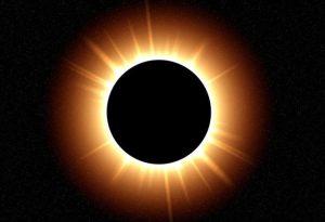 Черная дыра и солнце