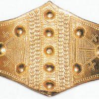 Золотой браслет IX или XII в. из Рабуйлилля, Дания