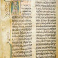 Страницы исландского  библейского текста XIV в