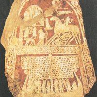 Шведская стела изображающая восьминогого коня Одина — Слейпнира