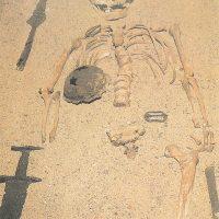 Останки воина-викинга X в., похороненного с вооружением