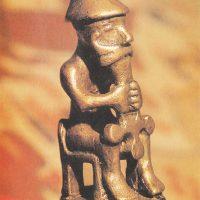Бронзовая статуэтка Тора с молотом