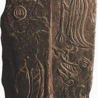 Фрагмент креста X в., найденный в Майкле, остров Мэн, с изображением Фрейра и Герд