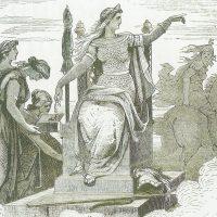 Фригг изображена вместе со своими спутницами