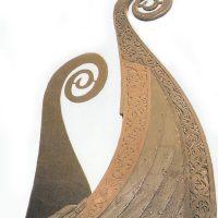 Детали кормы ладьи Осеберга, замысловато изукрашенные резьбой