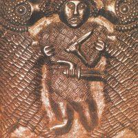 Шведская бронзовая матрица, примерно VIII в. Использовалась викингами
