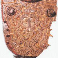 Часть пряжки от ремня, найденная  в могиле вождя VI в. в Акере