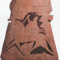 Фрагмент стелы VIII в. с изображением скандинавского воина верхом на коне