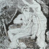 Эгир, бог моря, изображенный  вместе со своей женой Ран