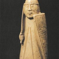 Ладья (шахматная фигура) из моржовой кости, 1135 —1150 гг.