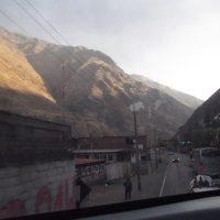 Вид из автобуса на дороги Перу