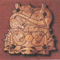 Позолоченная брошь викингов IX - XI  в. до н. э.