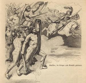 Валькирия ведет воинов в бой