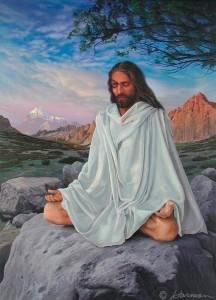 Иисус медитирует