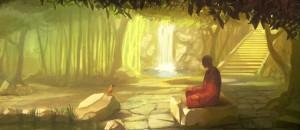 Райский сад для медитации