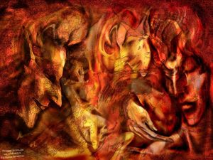 Бог сакрального огня Локи
