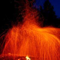 Дождь из огня в местах силы
