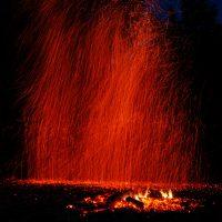 Дождь из огня в месте силы