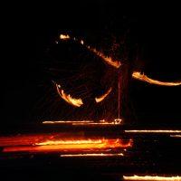 Ночные огненные ритуалы в месте силы