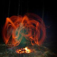 Огненные ритуалы ночью