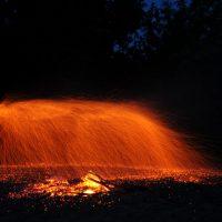 Огненный дождь в местах силы