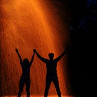 Огненный дождь в месте силы