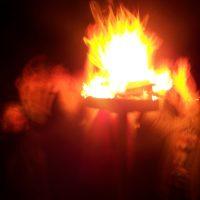 Огненный ритуал в местах силы