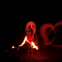 Огненный ритуал в месте силы