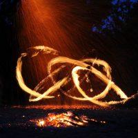 Танец огня во тьме