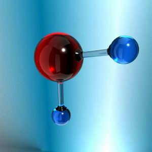 Структура молекулы воды: 1 атом водорода и 2 атома кислорода