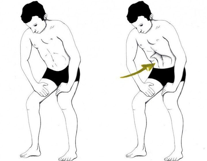 Уддияна-бандха упражнение